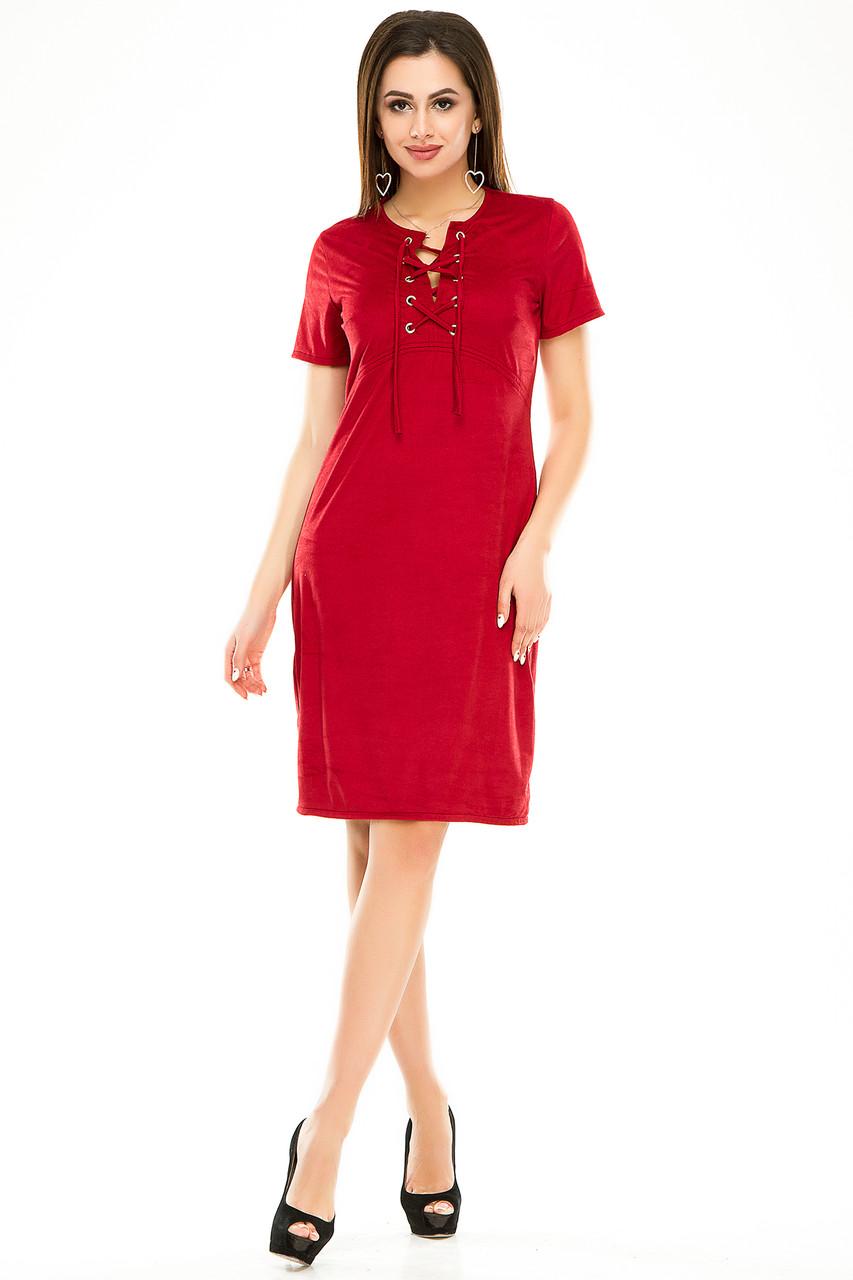 Платье 296 бордового цвета
