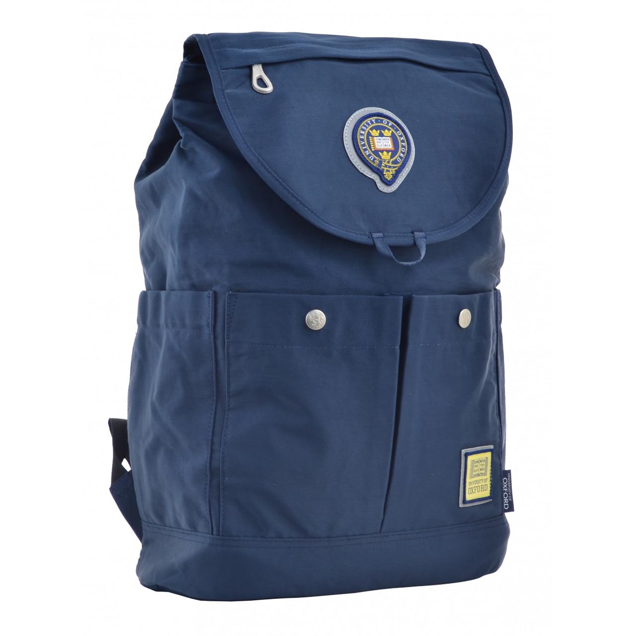 Рюкзак молодежный OX 414, 43.5*31*16, синий