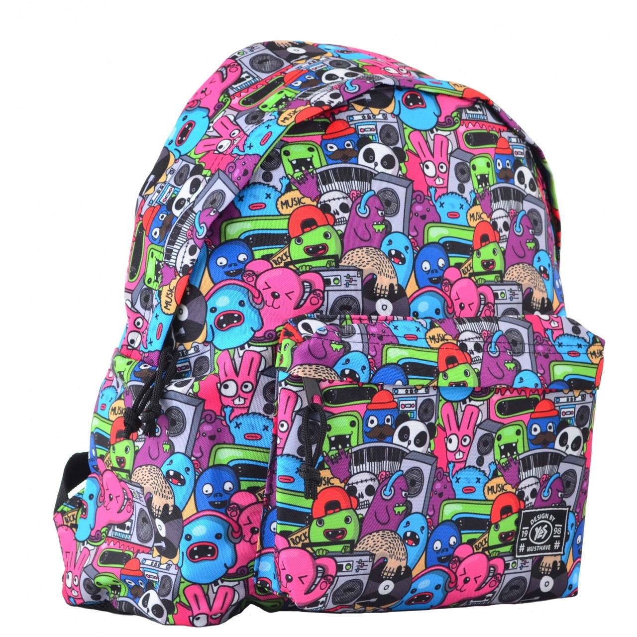 Рюкзак молодежный ST-17 Crazy muzic, 42*32*12