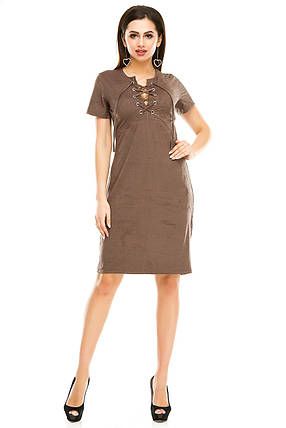 Платье 296  цвета мокко размер 44, фото 2
