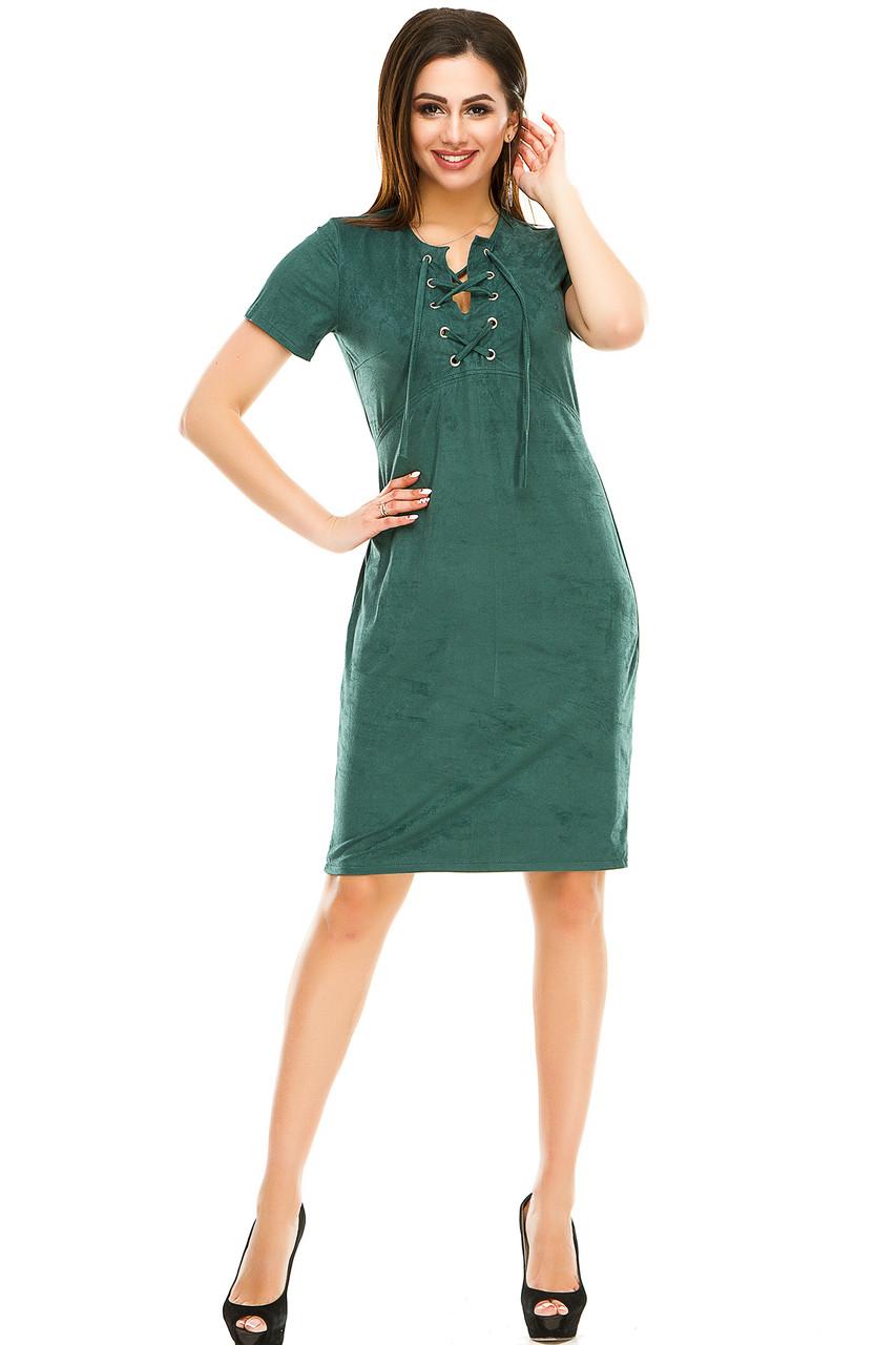 Платье 296 зеленого цвета