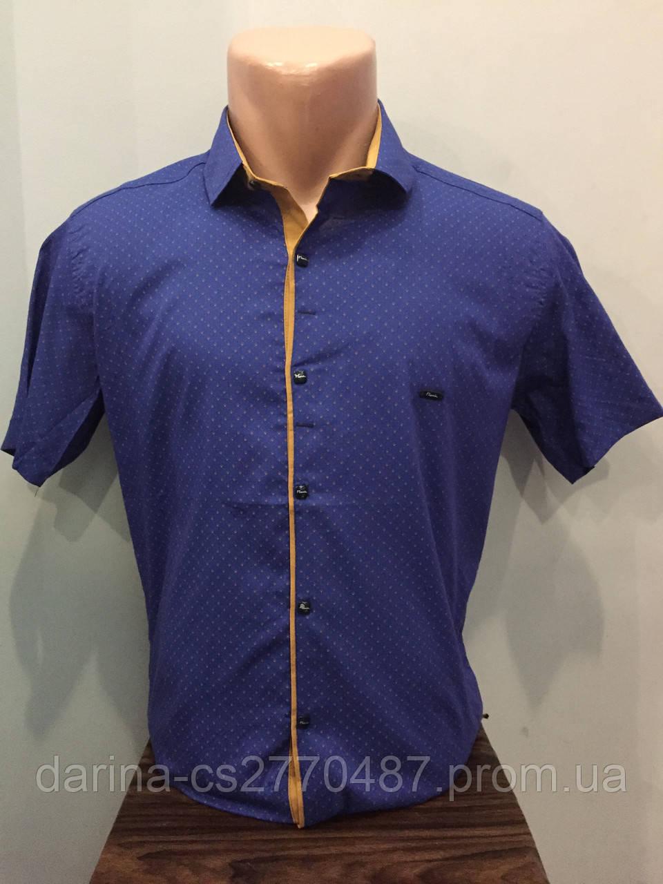 Летняя мужская рубашка на кнопках S,М,L