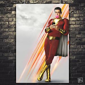 Постер Шазам! Shazam!. Размер 60x42см (A2). Глянцевая бумага