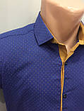 Летняя мужская рубашка на кнопках S,М,L, фото 2