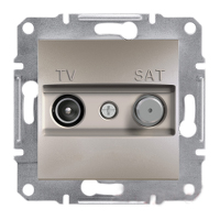 Розетка TV-SAT одинарная 1dB Бронза Schneider Asfora plus (EPH3400469), фото 1
