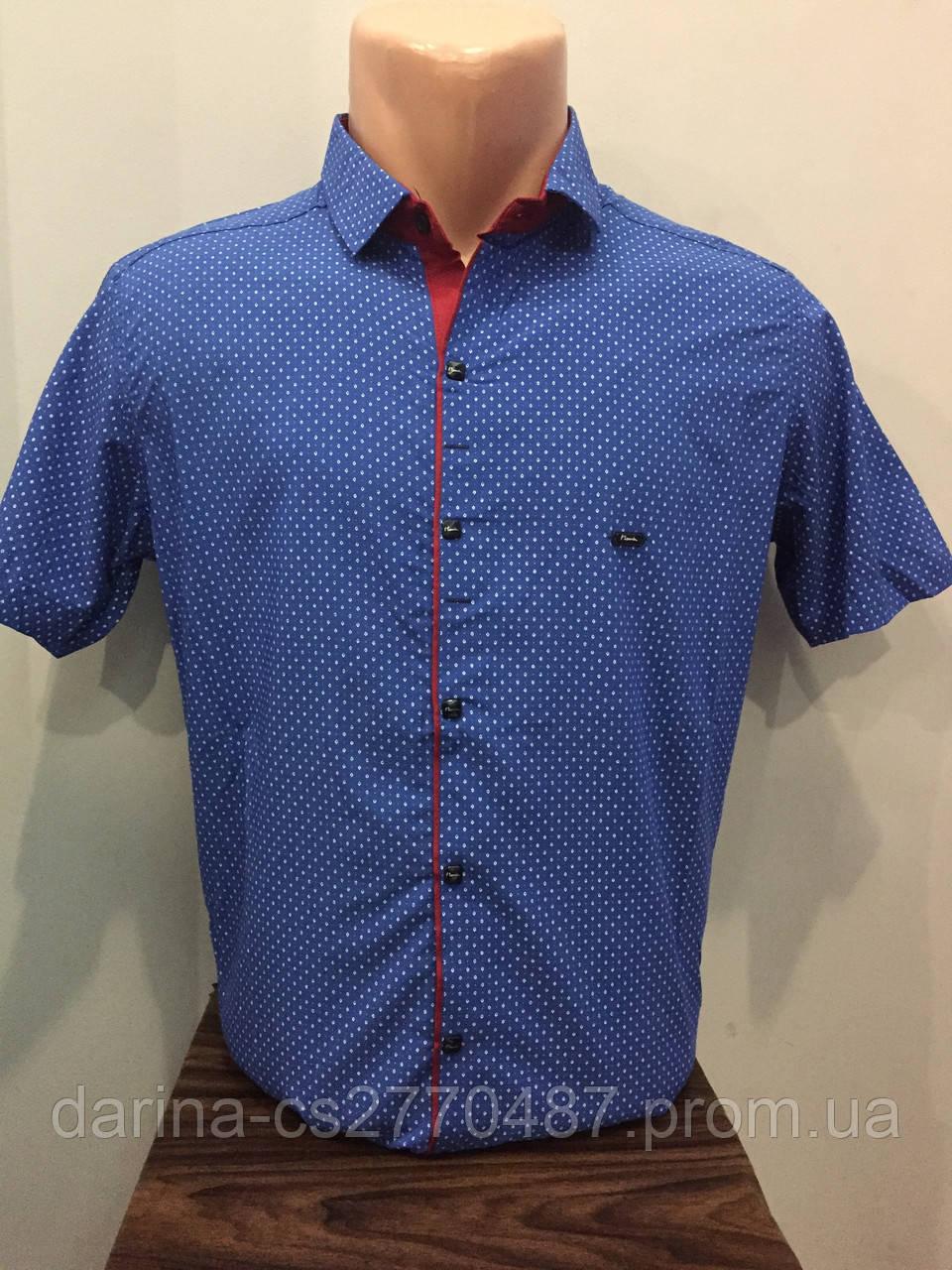 Летняя мужская рубашка в мелкий рисунок M