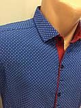 Летняя мужская рубашка в мелкий рисунок M, фото 2