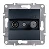 Розетка TV-SAT одинарная 1dB Антрацит Schneider Asfora plus (EPH3400471)