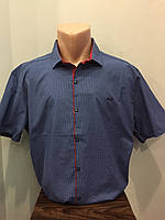 Летняя мужская рубашка батал 5XL,6XL
