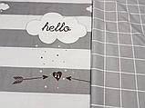 Постільна білизна сатин Хелло, фото 2