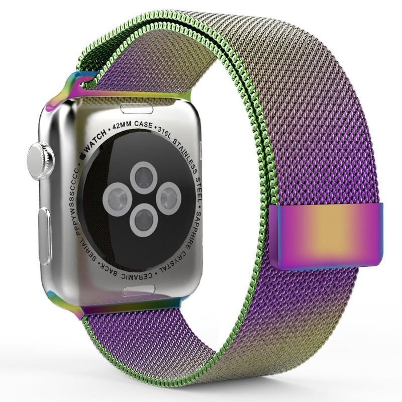 Ремінець Milanese Loop Міланська петля для Apple Watch 42/44mm Series 1/2/3/4 - Colorful