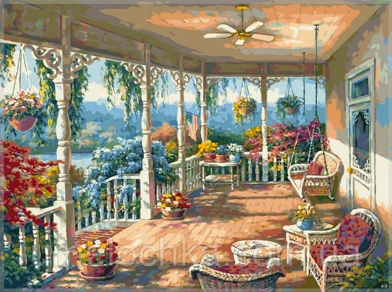 Картина по номерам на холсте Babylon Летняя веранда
