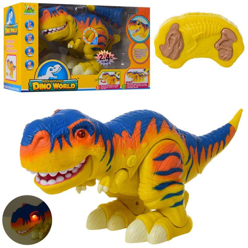 """Динозавр """"Тиранозавр Добряк"""" 40 см на радиоуправлении для малышей, ходит, звук, свет,  RS6156A"""