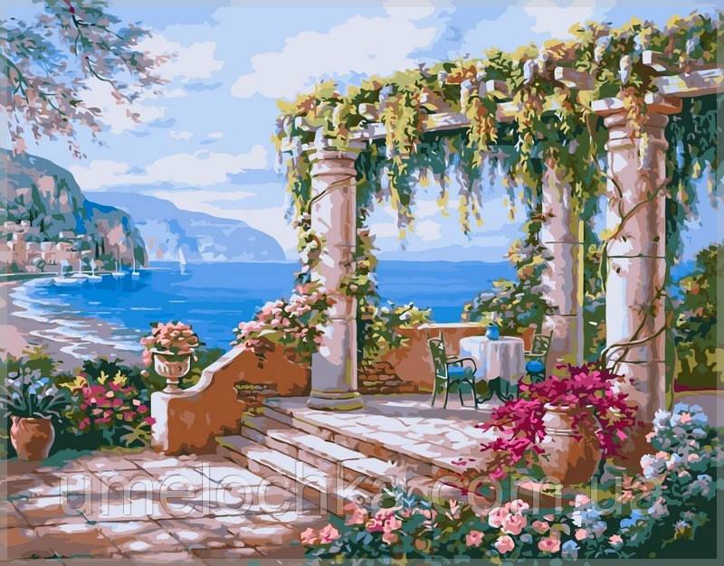 Картина по номерам на холсте Babylon Открытая терраса