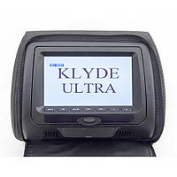 Подголовник с монитором и DVD-проигрывателем KLYDE Ultra 747 HD Black (черный)