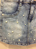 Джинсовый комбинезон-сарафан для девочки 134 см, фото 4