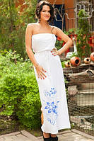 Платье Белое без бретелей