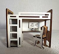 Игрушка Кровать двухярусная для куклы Лоло, малышей куклы Барби, фото 1