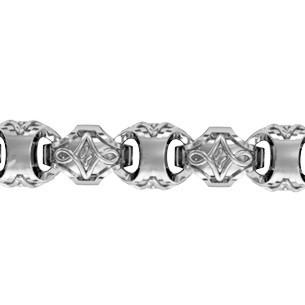 Браслет серебряный плетение Baraka 510120