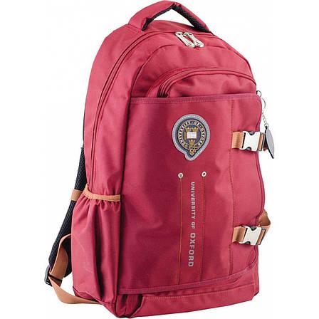 Рюкзак подростковый OX 302, бордовый, 30*47*14.5, фото 2