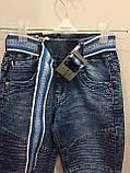 Модные детские джинсы джоггеры для мальчика 104,110,128,134 см, фото 3