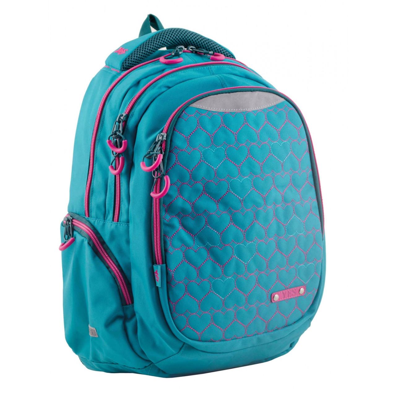 Рюкзак подростковый Т-22 Mint hearts, 43*30*15