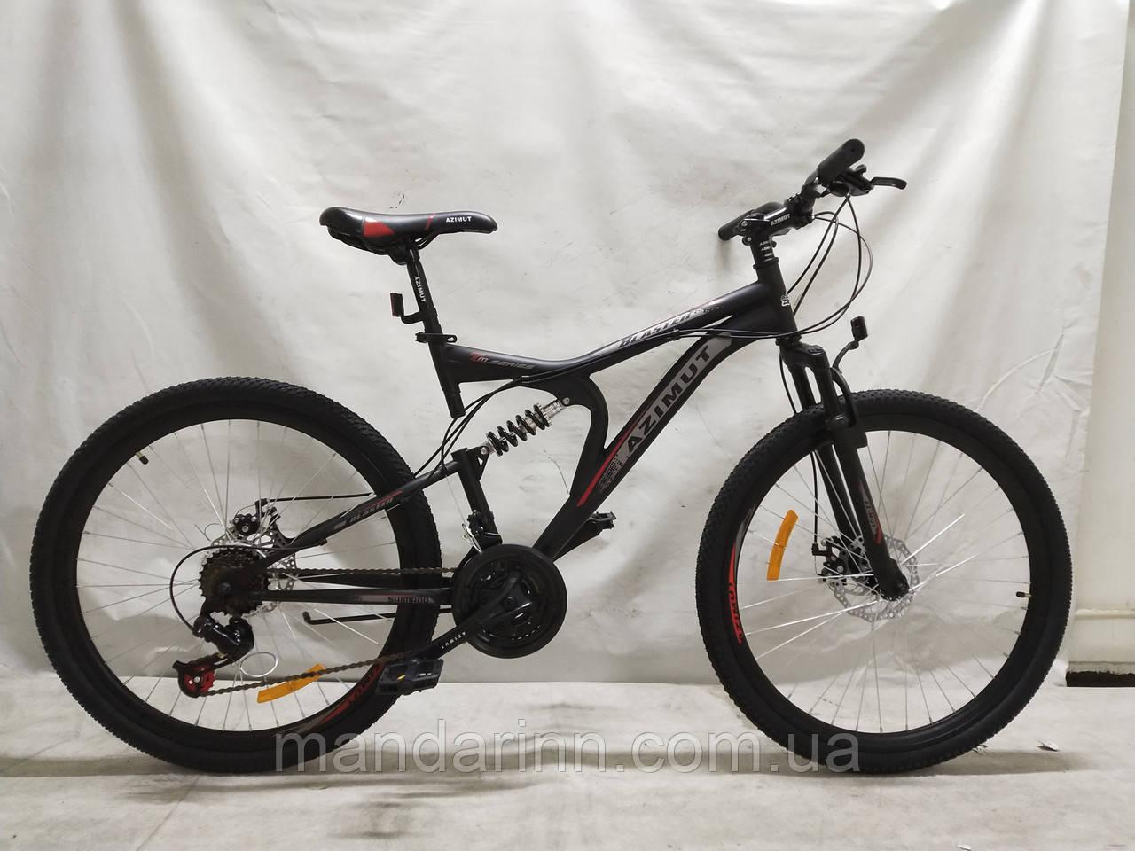 Гірський велосипед Azimut Blaster 26 дюймів. Чорно-червоний