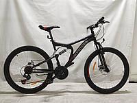 Гірський велосипед Azimut Blaster 26 дюймів. Чорно-червоний, фото 1