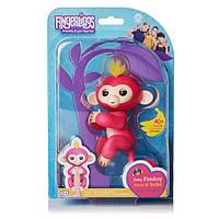 Интерактивная обезьянка Fingerlings Happy Monkey Розовая