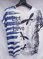 Женская футболка батал 1586 оптом