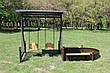 Садовые качели двойные с песочницей (цвет черный/шоколадный), фото 5