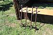 Садовые качели двойные с песочницей (цвет черный/шоколадный), фото 6