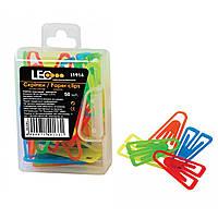 Скрепки пластиковые 25мм цветные 50шт L1914 (в уп. 10 наборв)