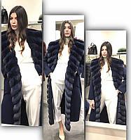 Пальто кашемировое с отделкой из  шиншиллы , фото 1