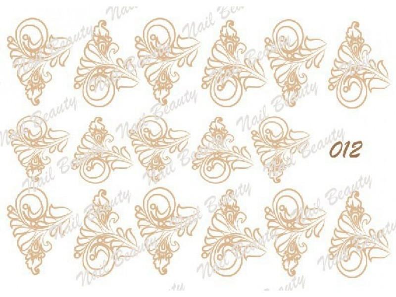Трафарет для гель пасти для дизайну нігтів №12