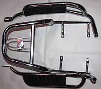 Подножки пассажирские Актив в сборе с багажником