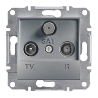 Розетка TV-R-SAT проходная 4dB Сталь Schneider Asfora plus (EPH3500262), фото 1