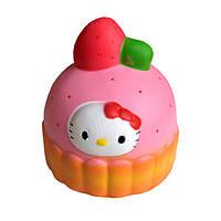 Мягкая игрушка антистресс Сквиши Squishy Кекс с Kitty