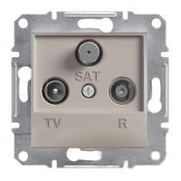 Розетка TV-R-SAT проходная 4dB Бронза Schneider Asfora plus (EPH3500269), фото 1