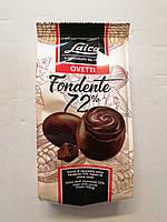Шоколадные яйца 72% какао с пралине Laica Ovetti Fondente, 120 гр.