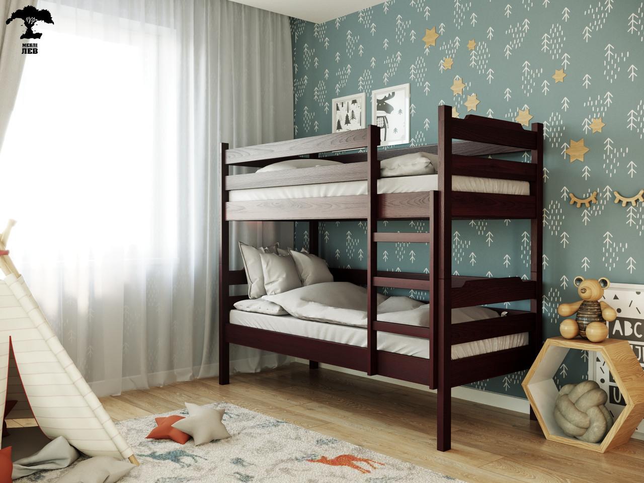 Двухъярусная кровать Милена-2 80х190 см. Лев Мебель