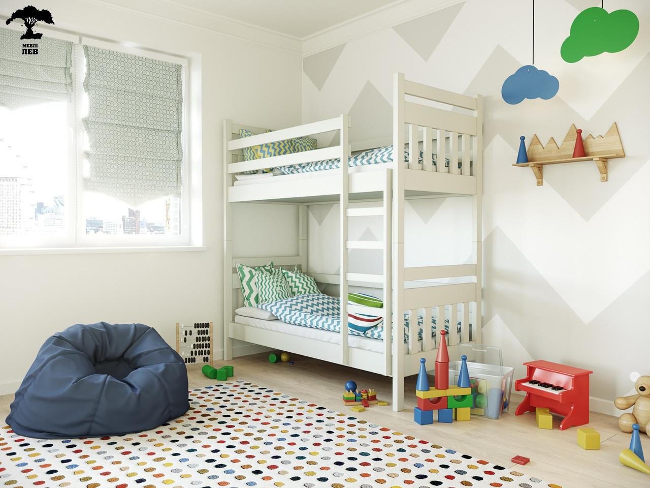 Двухъярусная кровать Умка 80х190 см. Лев Мебель