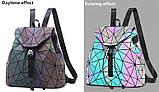 Модний рюкзак жіночий міський. Яскравий рюкзак хамелеон Bao Bao Issey Miyake. Рюкзак для дівчинки, фото 4
