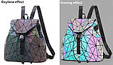 Модный рюкзак женский городской. Яркий рюкзак хамелеон Bao Bao Issey Miyake. Рюкзак для девочки, фото 4