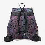 Модний рюкзак жіночий міський. Яскравий рюкзак хамелеон Bao Bao Issey Miyake. Рюкзак для дівчинки, фото 5