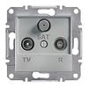 Розетка TV-R-SAT проходная 8dB Алюминий Schneider Asfora plus (EPH3500361)