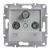 Розетка TV-R-SAT проходная 8dB Алюминий Schneider Asfora plus (EPH3500361), фото 1