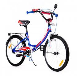 Велосипед детский синий.Детский двухколесный велосипед 20 дюймов.