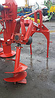 Бур садовый, ямобур Wirax для трактора (2 насадки)