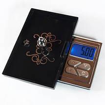 Мини ювелирные весы, атр-168 (6224ра), 200г / 0,01г,стильный дизайн, подсветка дисплея, тарирование,чехол, фото 3